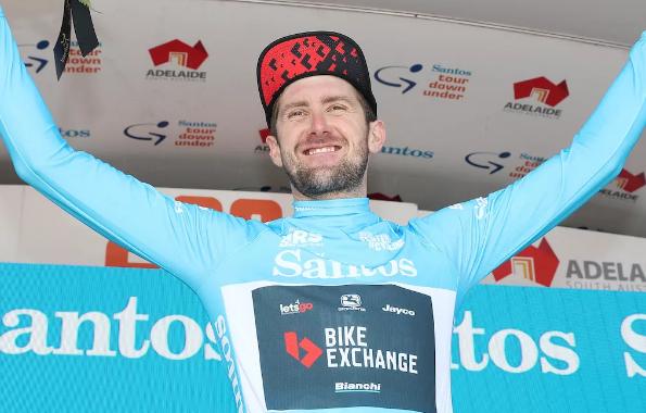 Luke Durbridge se prepara para la victoria general del Santos Festival of Cycling después de la actuación de Willunga